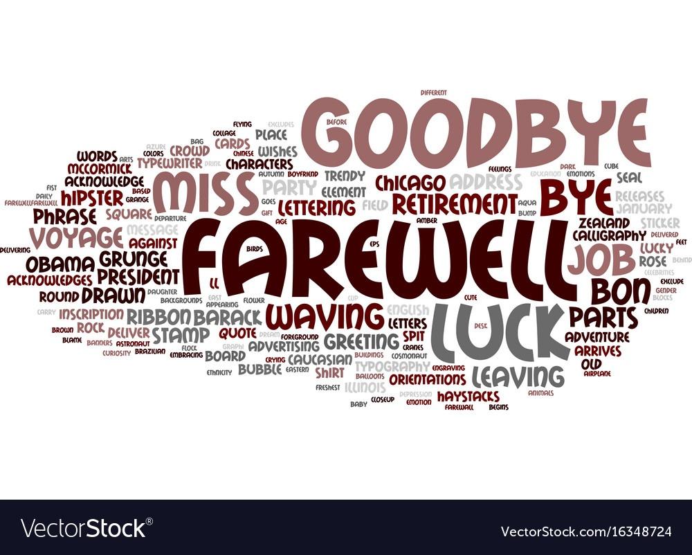 Farewell Howard